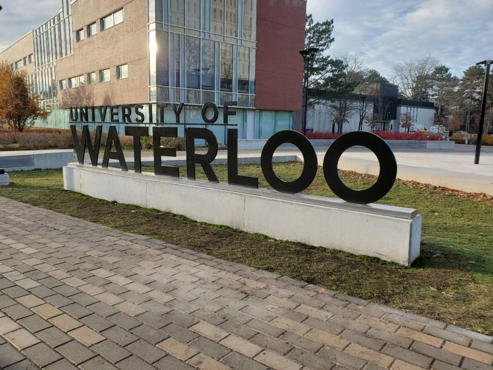 University of Waterloo sign new location