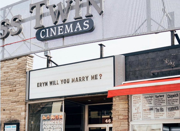 Princess Cinemas' marquee shares special message this past weekend