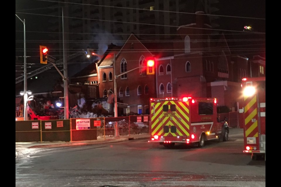 A fire at Trinity United Church in Kitchener on Nov. 15, 2018 caused $100,000 damage. Jeff Pickel/KitchenerToday