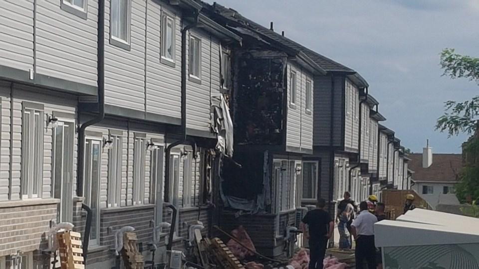 Fire on Dundas Street South in Cambridge
