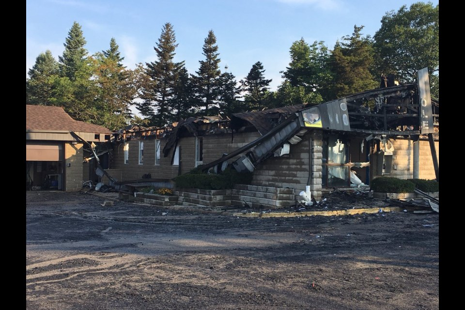 A look at the fire scene at the Cambridge OPP detachment the day after (Tuesday, September 5, 2018). Jeff Pickel/KitchenerToday
