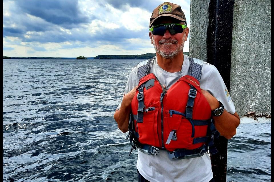 Pete Viol on his paddling adventure.