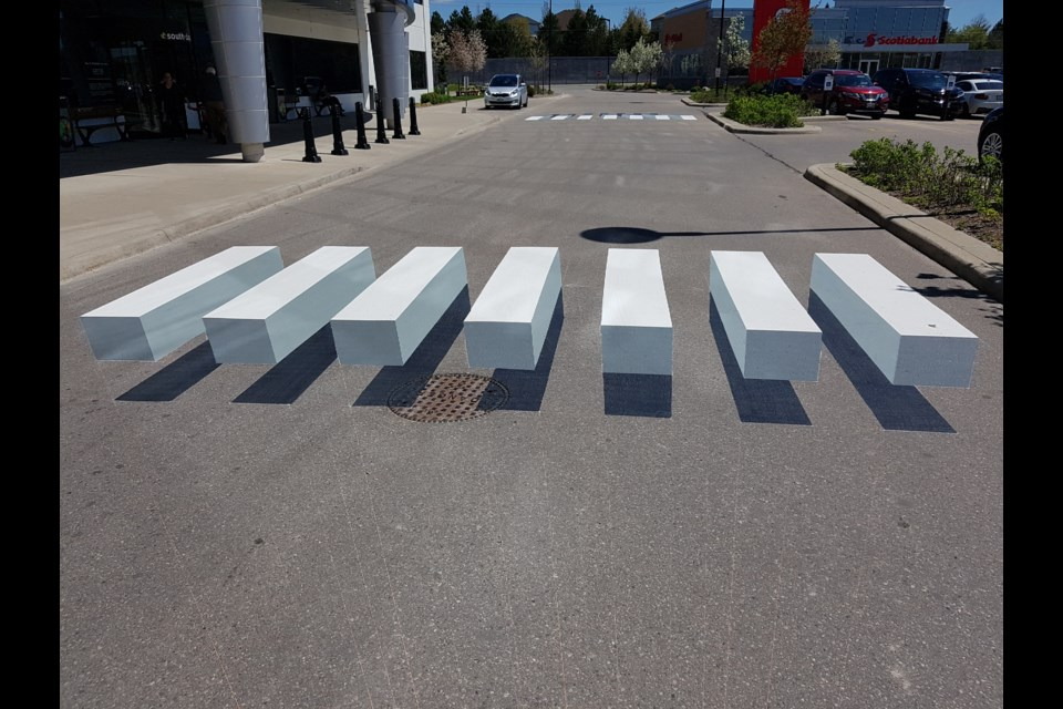 Two 3D crosswalks are now located at The Medical Centre at The Boardwalk. Blair Adams/KitchenerToday