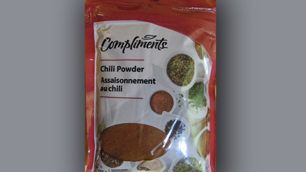 chili powder size