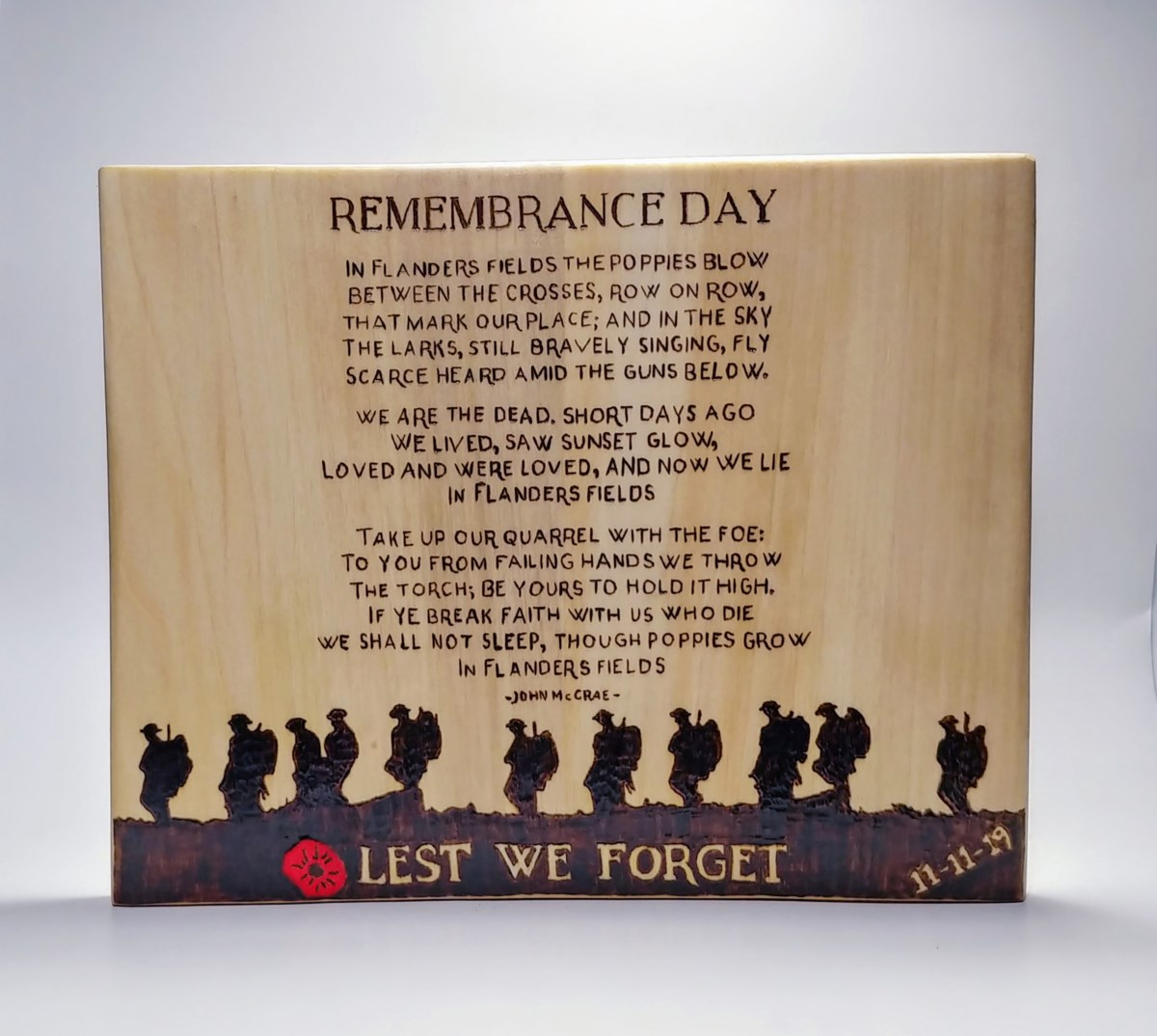 Woodworking Jobs In Kitchener Waterloo: Cambridge Man Auctioning Off Remembrance Day Wood Burning