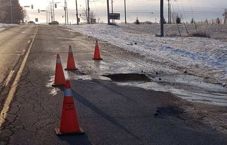 Dec 2 2019 sink hole