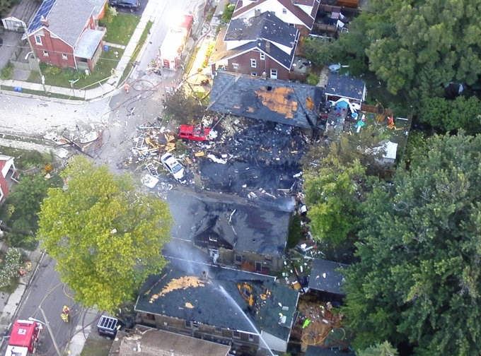 London house explosion 1 August 15 2019