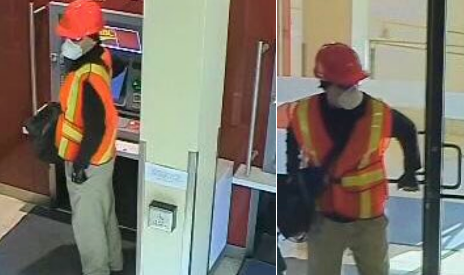 Suspect wanted in robbery at the CIBC on King Street North in Waterloo on Saturday, August 18. Photo supplied by police