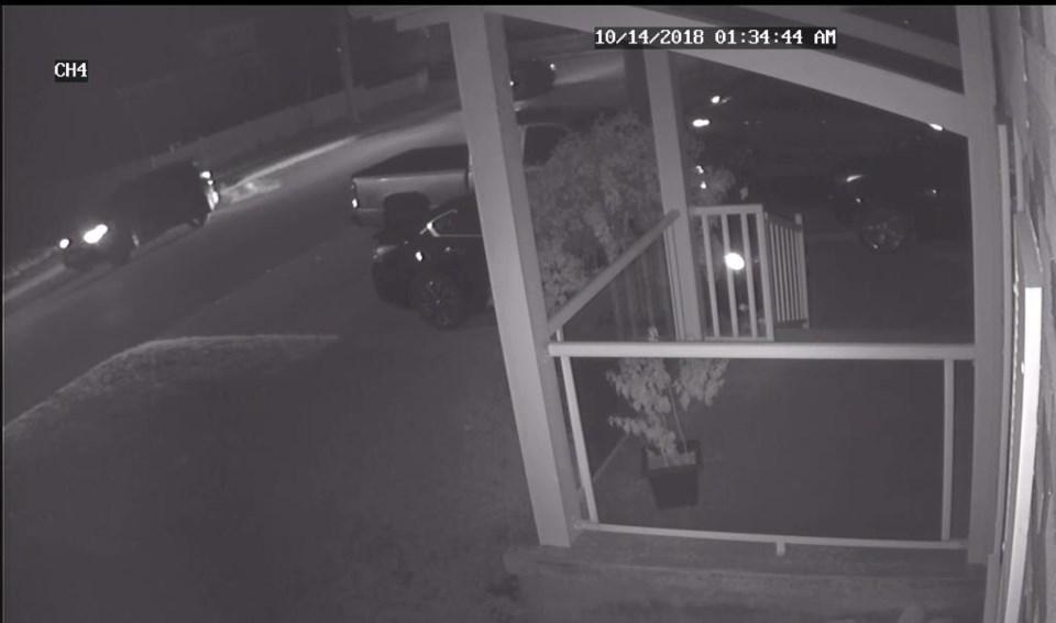 Suspect vehicle Oct 15, 2018