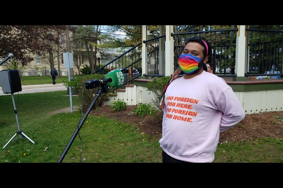 Media Relations Coordinator Aashay Dalvi speaks to 570 NEWS on the drive behind Wilmot's anti-racism rally.