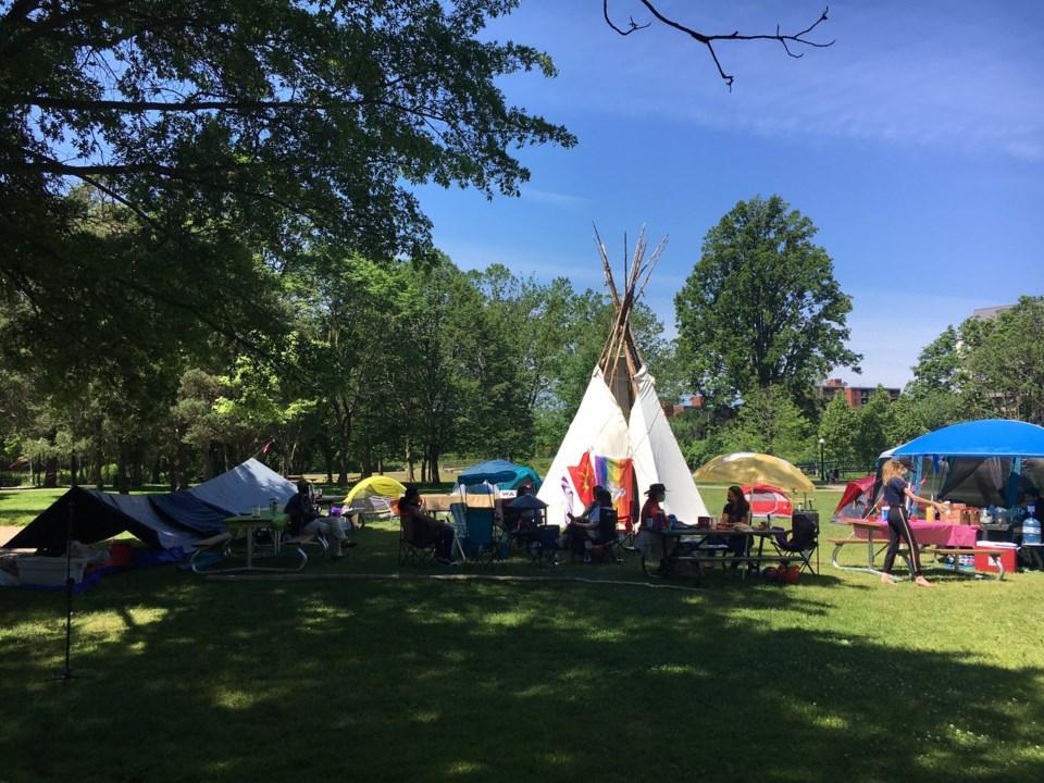 Indigenous campsite Victoria Park