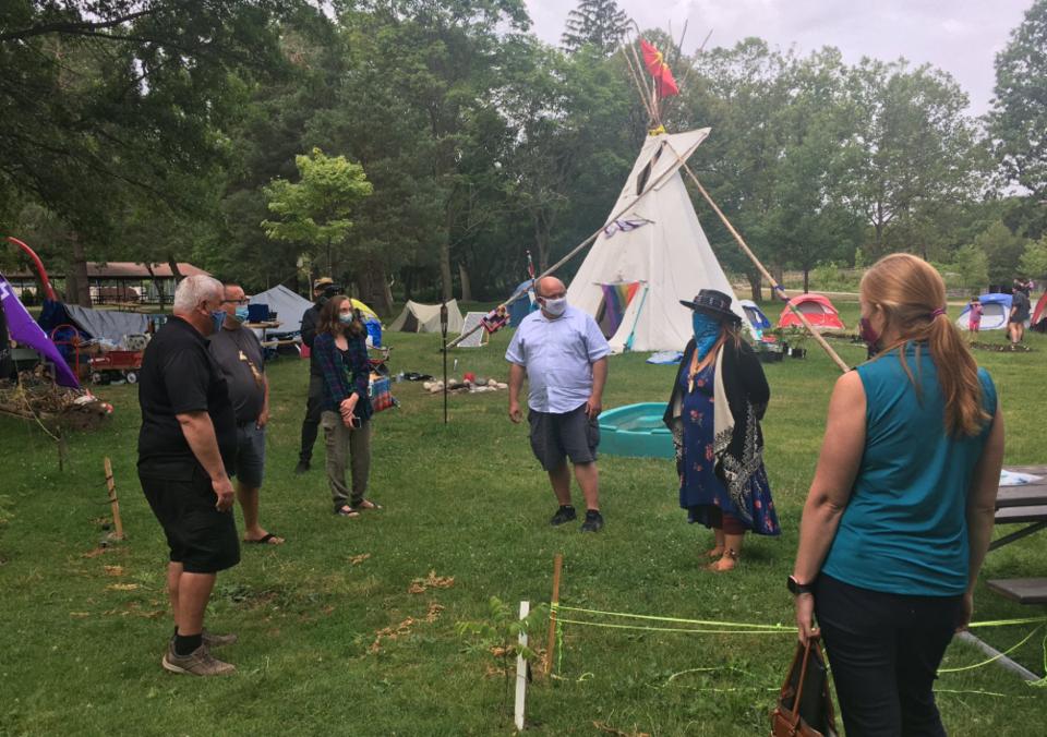 Mayors at land back camp July 21 2020
