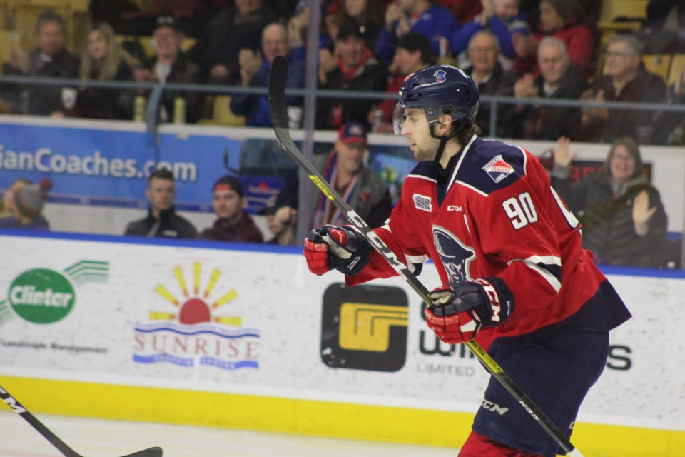 Kitchener Rangers forward Liam Hawel had a two goal game against Erie.  Mark Pare/KitchenerToday