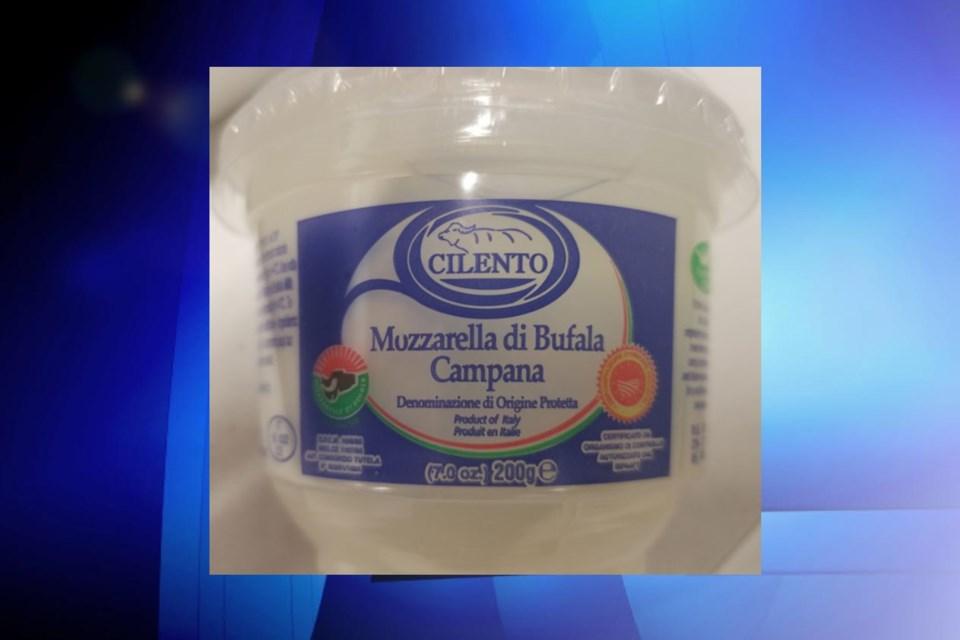 Mozzarella cheese recall