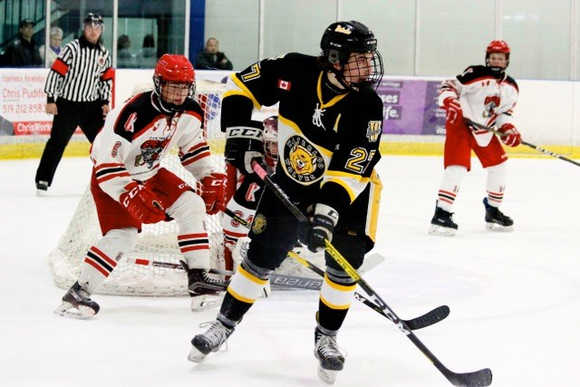 Waterloo Wolves winger Evan Klein, as seen in this submitted photo, was taken 75th overall by the Saginaw Spirit in the 2020 OHL Draft.