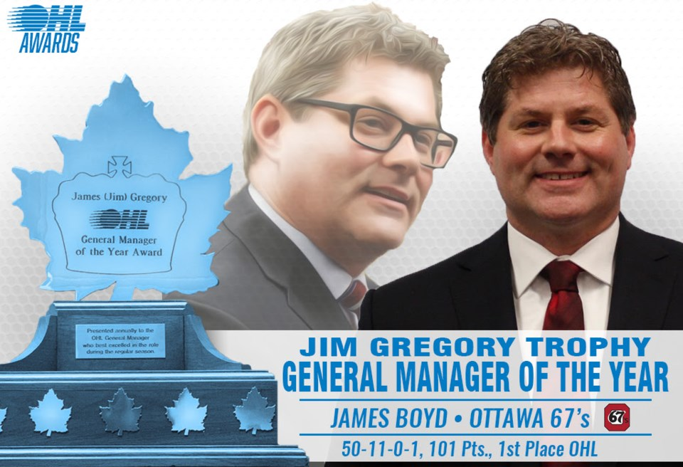 James Boyd OHL GM of the Year