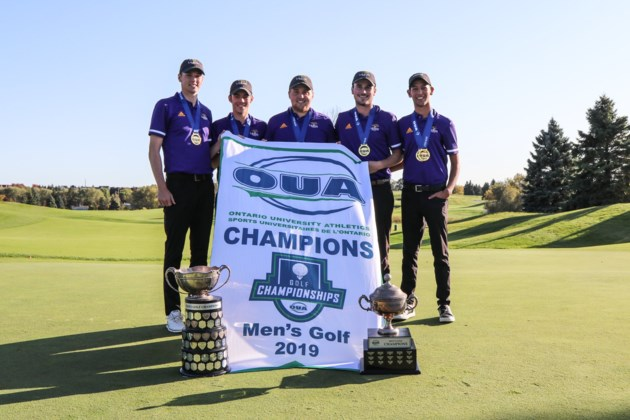 Laurier golf champs 2019