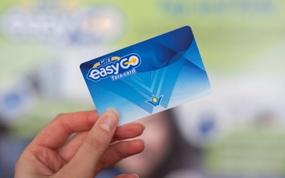 GRT EasyGo fare cards