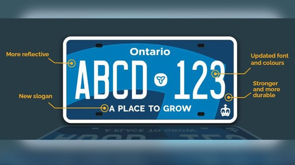 New Ontario licence plate 2020