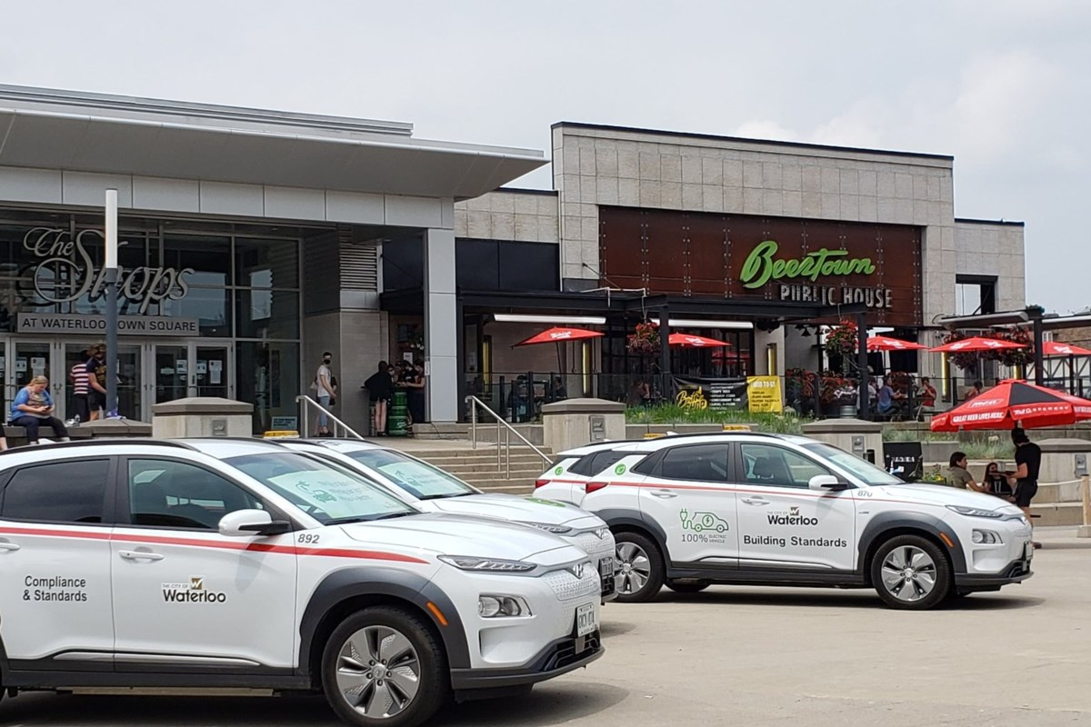 Uptown Waterloo sees bustling activity and bylaw vehicles in absence of regular protests