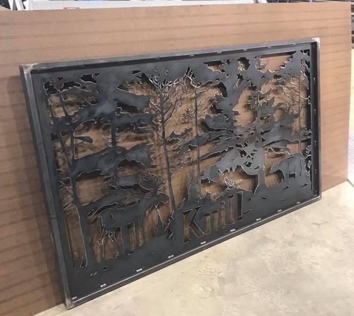 Metal fabricator, Brad Bielefeld hand-draws his custom designs before bringing them to life