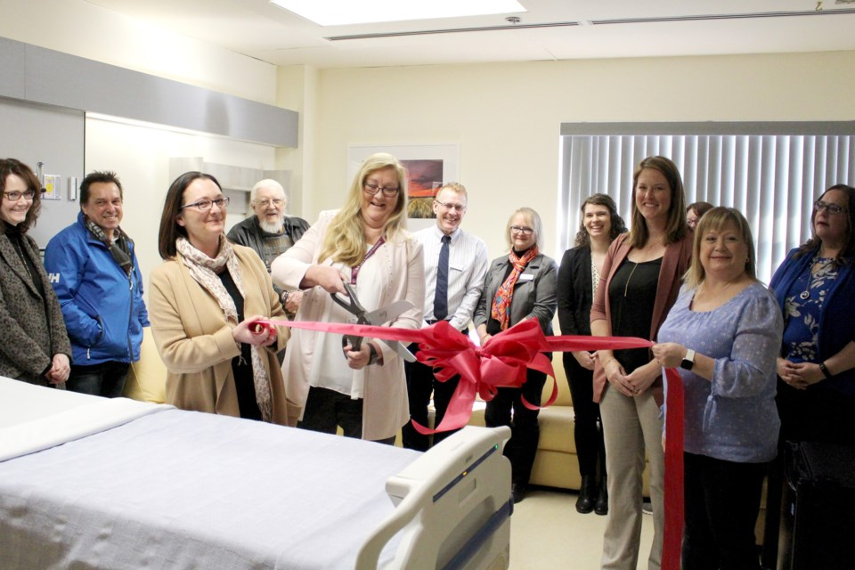 The Cold Lake Healthcare Centre unveiled two newly renovated rooms in the palliative care unit on Monday, Feb. 24. Photo by Robynne Henry.