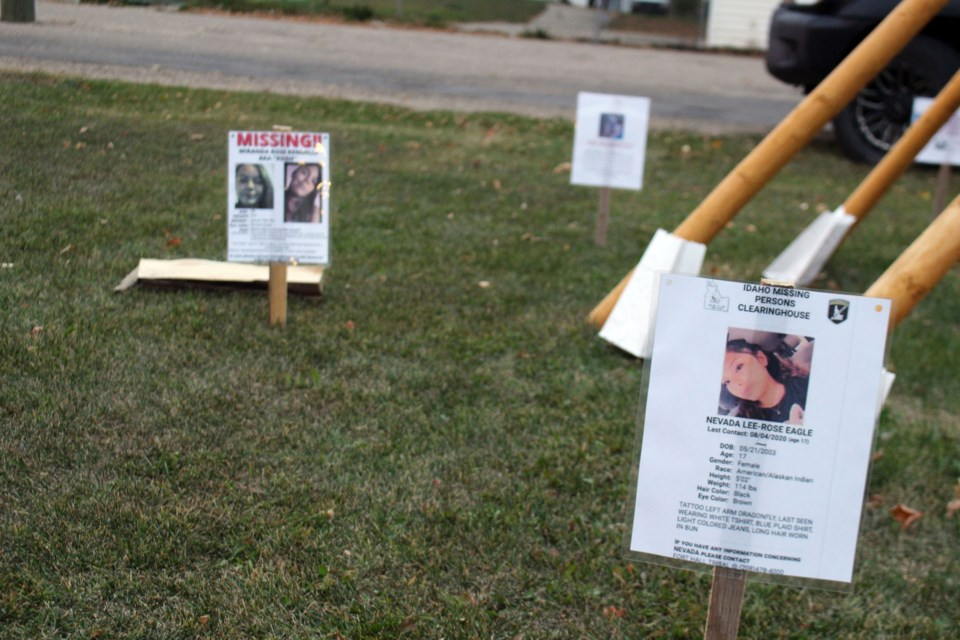 The Bonnyville Friendship Centre held their third annual Sisters in Spirit Vigil on Oct. 4. Throughout the space, posters of missing indigenous women were displayed. Photo by Robynne Henry.