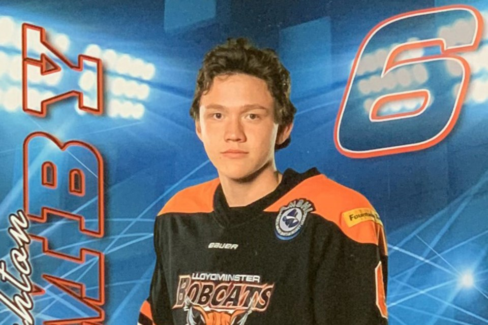 Ice - Bonnyville-native Ashton Cumby was drafted by the Winnipeg Ice in the Western Hockey League. Submitted photo.