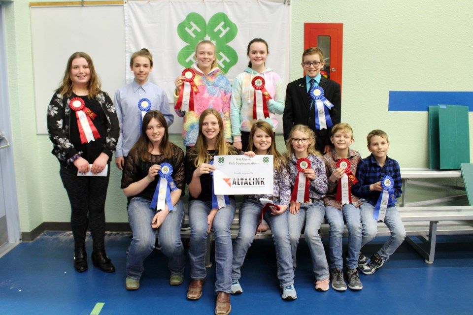 The winners from the Ardmore School 4-H Club are headed to the Bonnyville District 4-H District Communications Day on Sunday, Feb. 23 at Ardmore School. Photo by Robynne Henry.