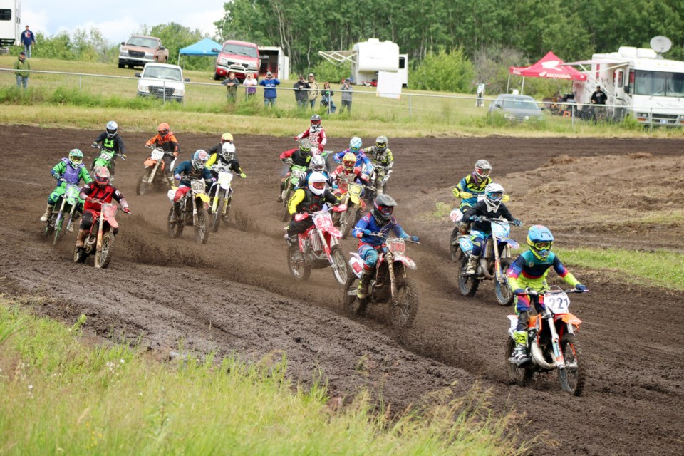 Riders flocked to the Cold Lake Motocross Association track on July 18 and 19 for the Midwest Amateur MX Series. Photo by Robynne Henry.