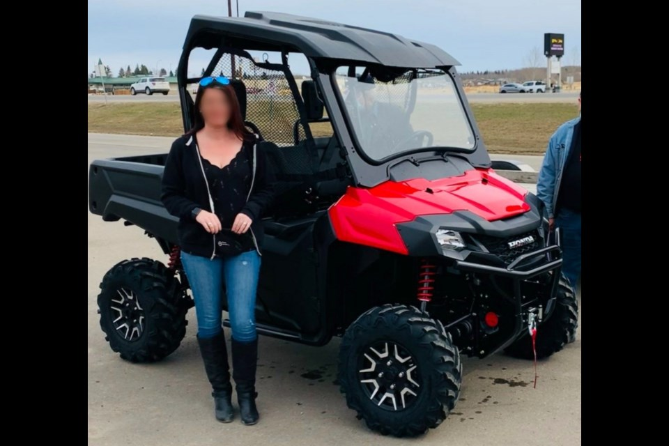 This is the 2021 Honda 700 side-by-side that was stolen from Rider's Connection in Cold Lake.