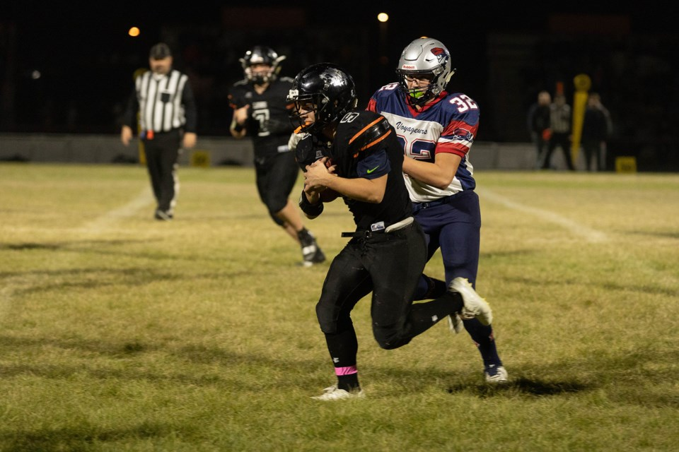 Pictured is some of the action in the second quarter. / Janice Huser photo