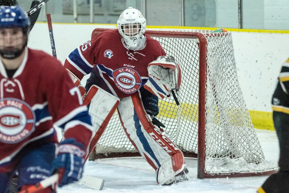 St. Paul's Bradley Mistol has moved from playing in the NEAJBHL to the AJHL. / Janice Huser photo