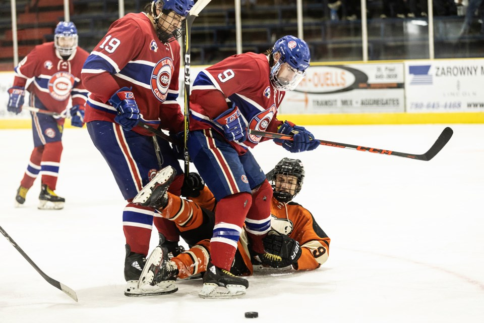 Pictured is some period two action from the Sept. 24 Canadiens versus Bisons exhibition game.