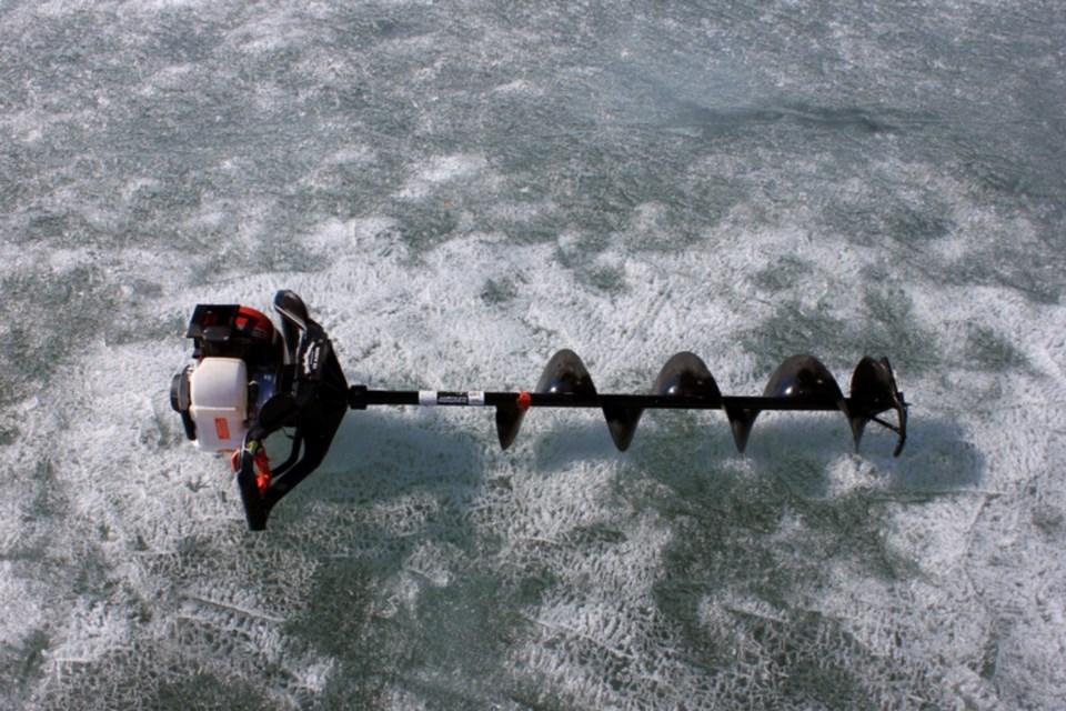 auger fishing