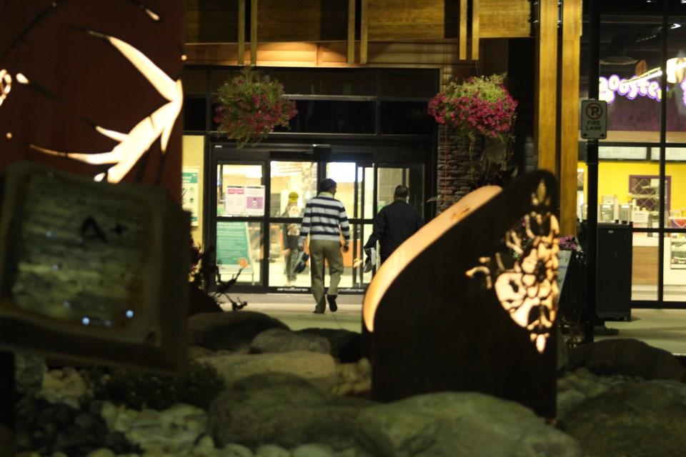 Bold Center Lac La Biche at night entry
