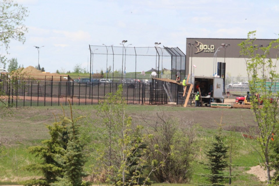 Workers have been busy in the campground and sports fields at the Bold Center over the last months.  Turf is expected to be installed at the ball diamonds and large playing field starting next week.     Image Rob McKinley
