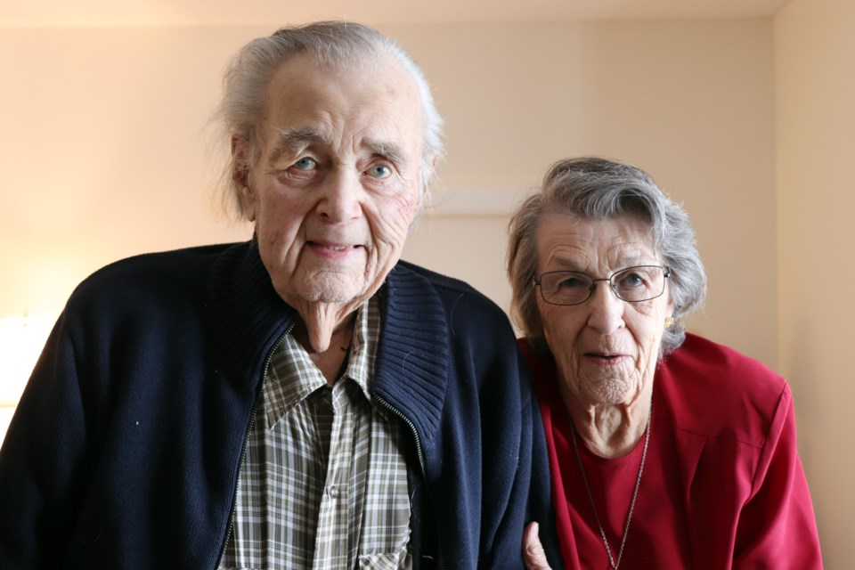 Garth and Joyce Biddle have been married for over 67 years. They shared their love story with the Nouvelle in honour of Valentine's Day. Photo by Meagan MacEachern.