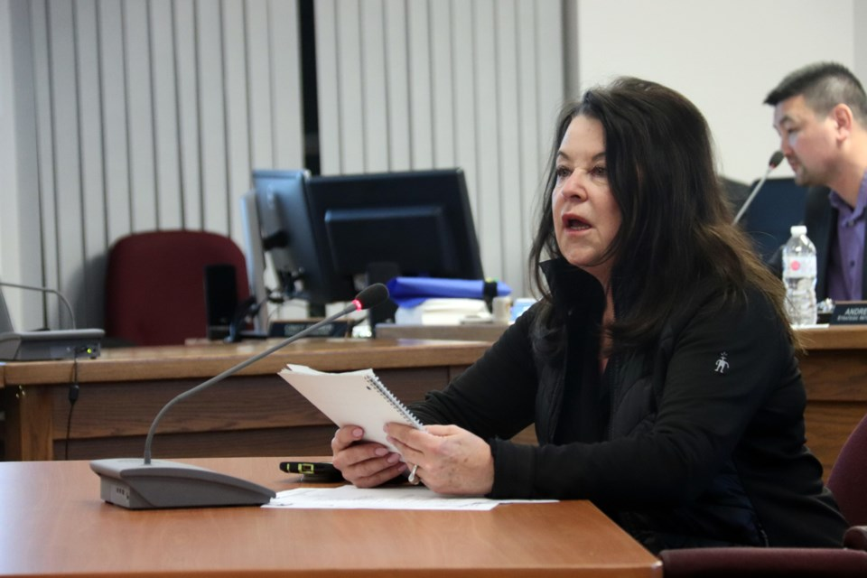 Eleanor Evans made a presentation on behalf of local businesses and residents to council regarding crime in the community. Photo by Meagan MacEachern.