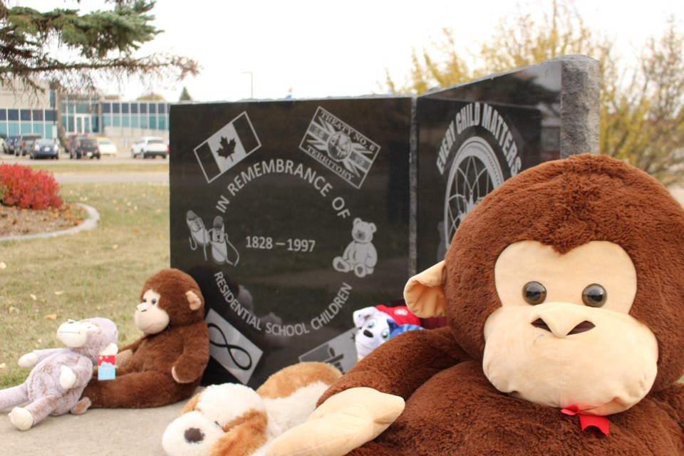 The Bonnyville Legion Branch 183 unveiled a monument on Saturday Oct. 2, dedicated to children who attended residential schools.