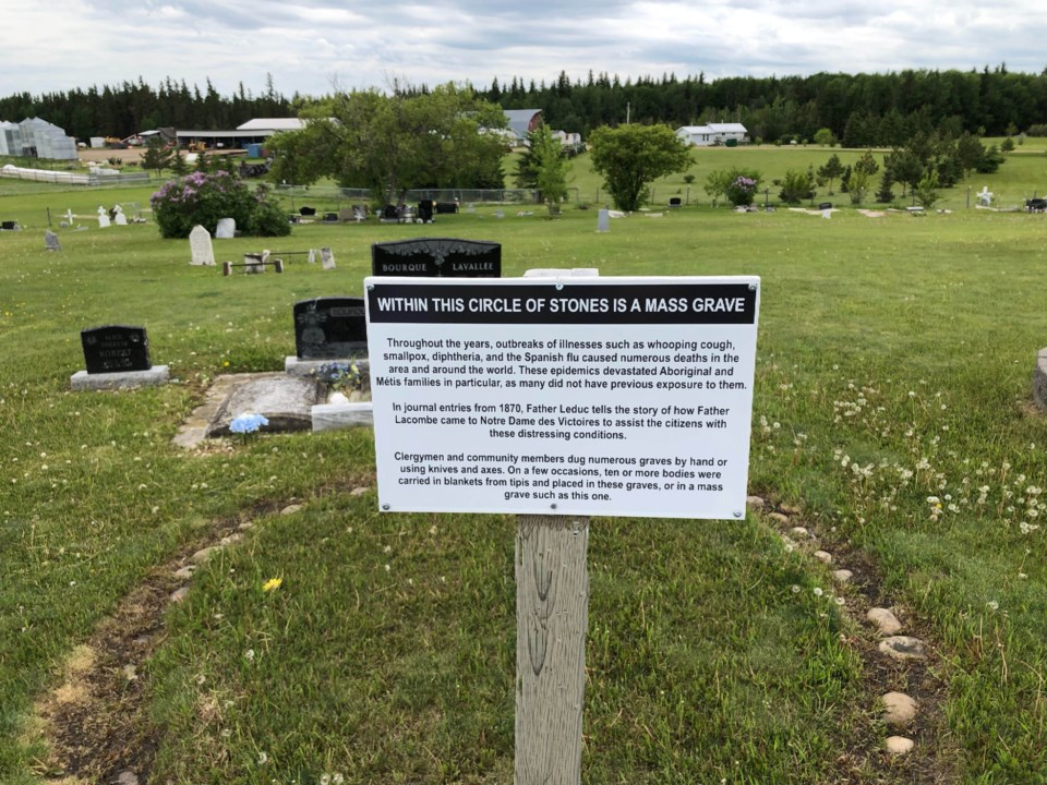 circle grave at mission