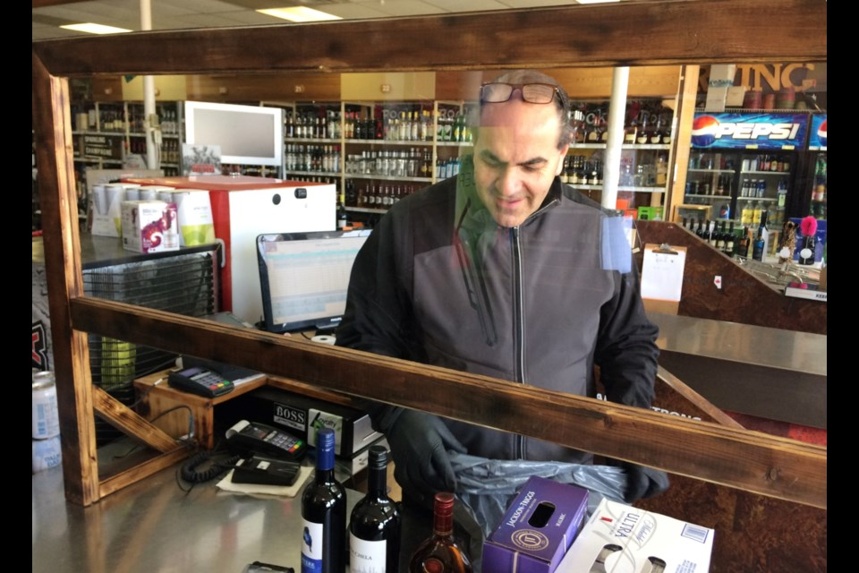 Fozie Fyith, the owner of the Lac La Biche Liquor Stop has been using safety protocols to maintain a healthy workspace for staff and customers. Other businesses expecting to be part of the provincial relaunch this week are expected to do the same.