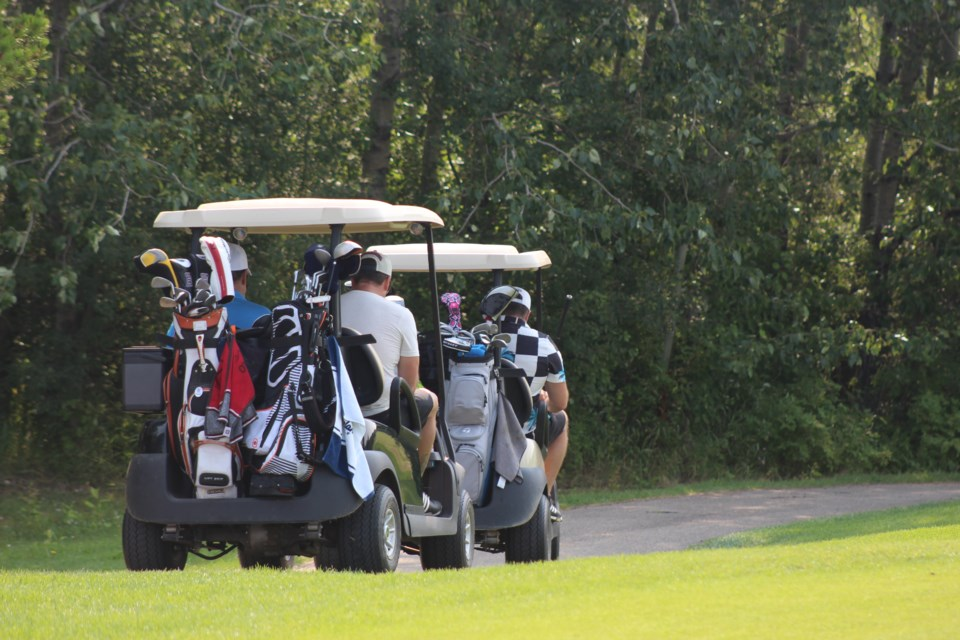 A golf tournament on July 9 helped raise funds and support for healthcare in the region. / Sara Aldred photo