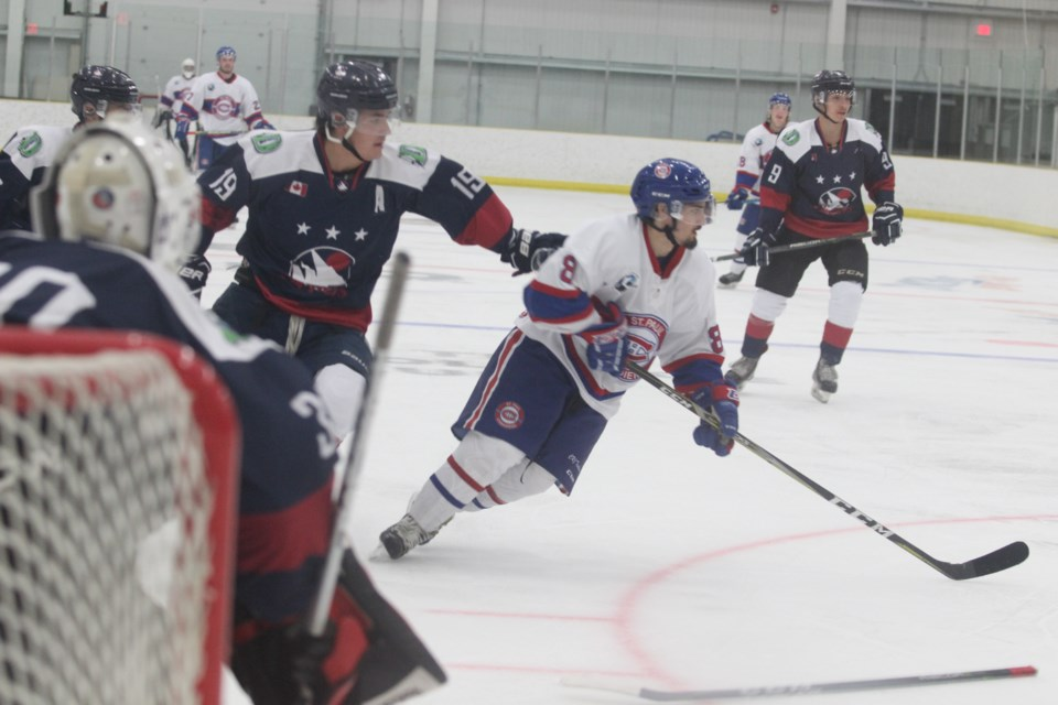 The Clippers during their most recent win against the St. Paul Canadiens