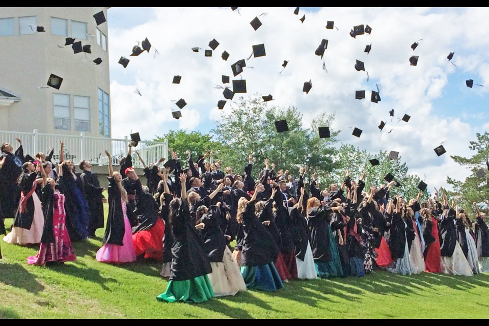 The J.A. Williams High School grad caps were flying for the outdoor class photo held in Lac La Biche's McArthur Park Friday afternoon.  More here: https://www.instagram.com/laclabichepost/