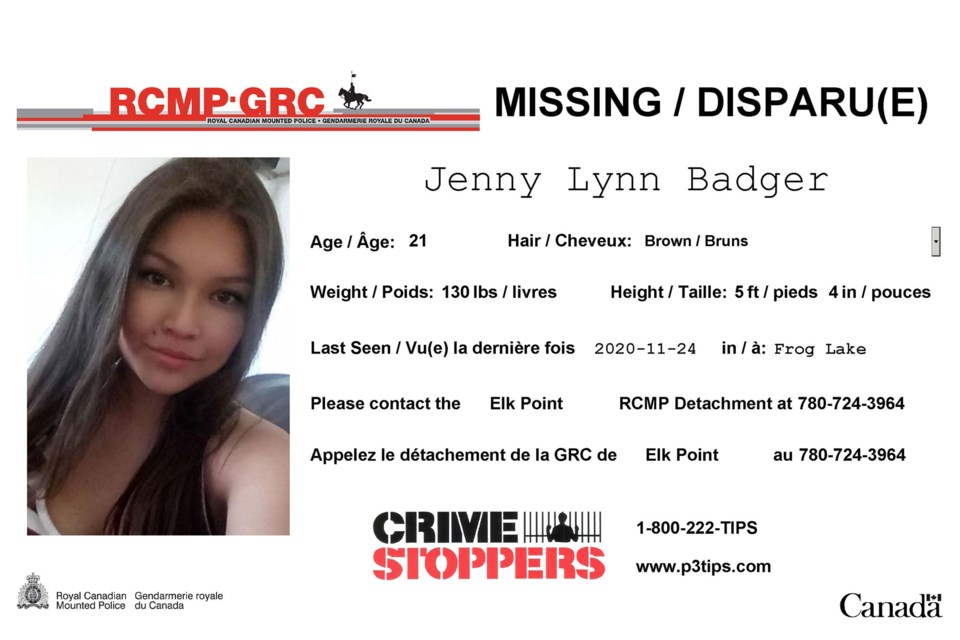 Jenny Lynn Badger missing poster