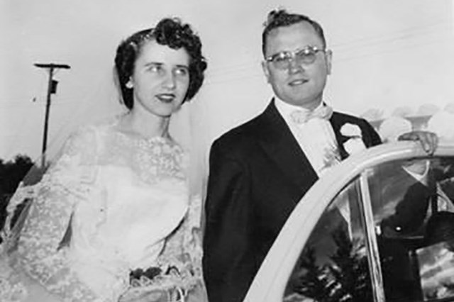Ellen Boyko marries Adolph Leo Gargus Sept. 28, 1957. Hours later, Boyko would have the Asian flu along with many of her wedding guests.