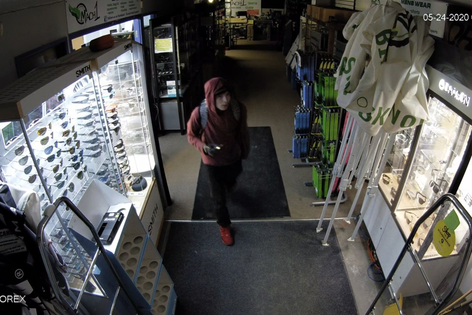 Cold Lake RCMP are looking for the public's assistance to identify this suspect who broke into Mach 1. Submitted photo.