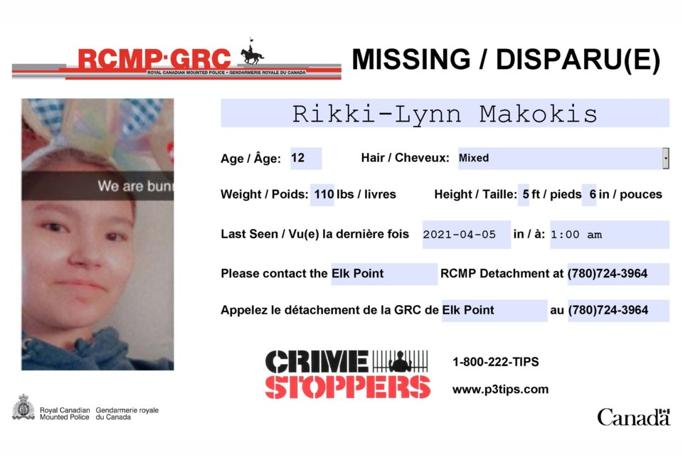 Makokis Missing Person Poster