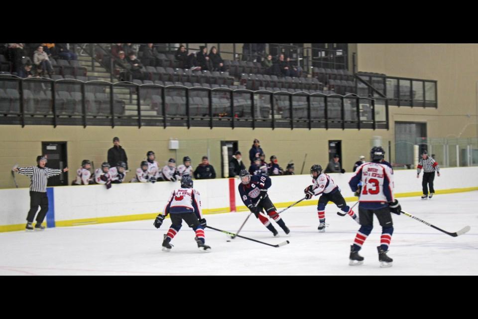 A minor hockey game from last season at Lac La Biche's Bold Center betwen St. Paul and Lac La Biche teams.     File photo Rob McKinley